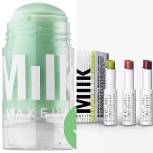 NEW Milk Makeup Matcha Toner and 3 lip gloss set